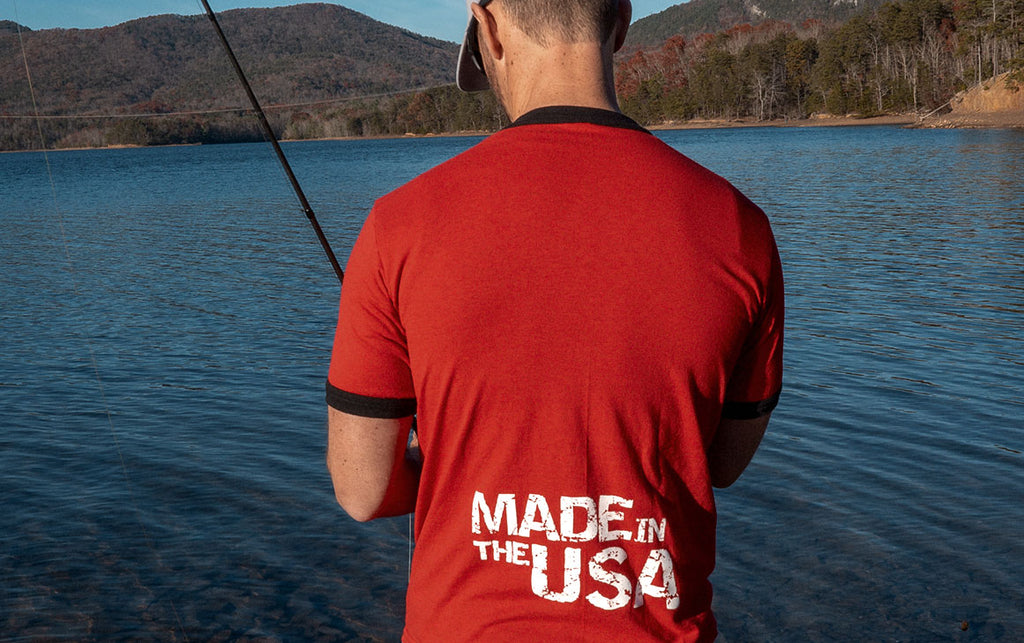 Missile Baits - Made in the USA - Red - Ringer T-Shirt - Missile Baits - best bass lure