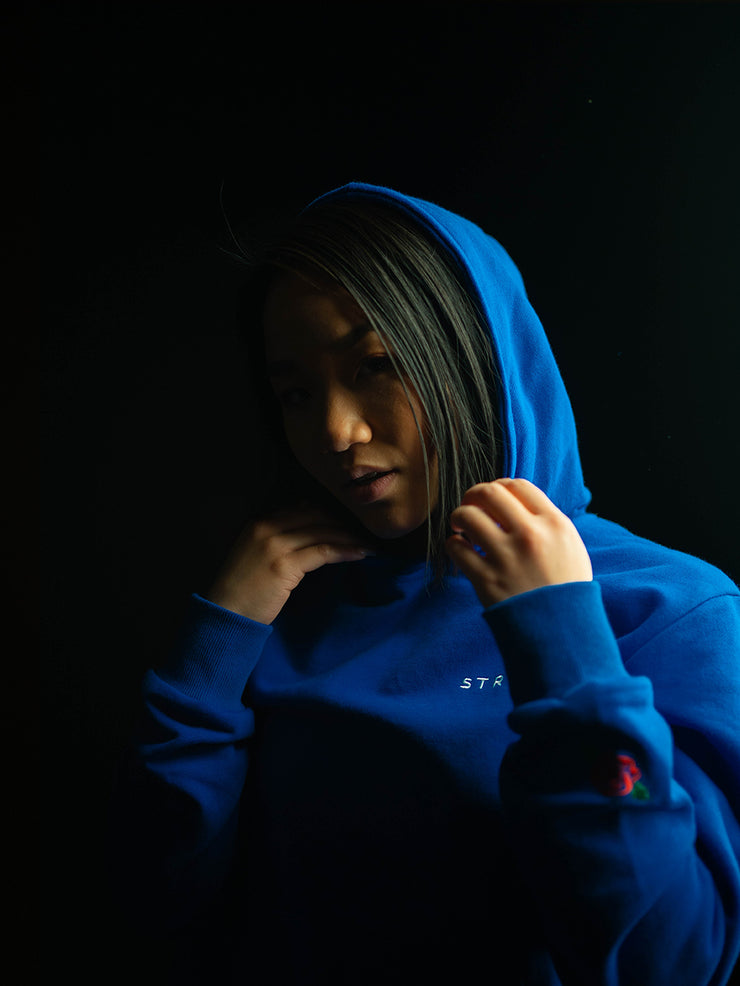 Deep Sea Blue Premium Fitted Unisex Hoodie
