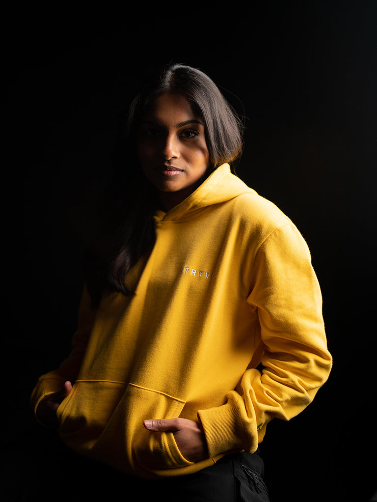 Easy Yellow Premium Fitted Unisex Hoodie