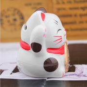 chat maneki neko rouge tirelire
