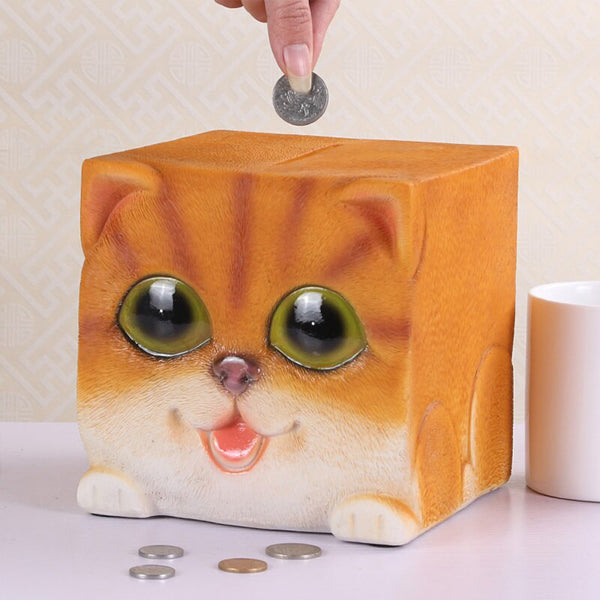 tirelire chat cube