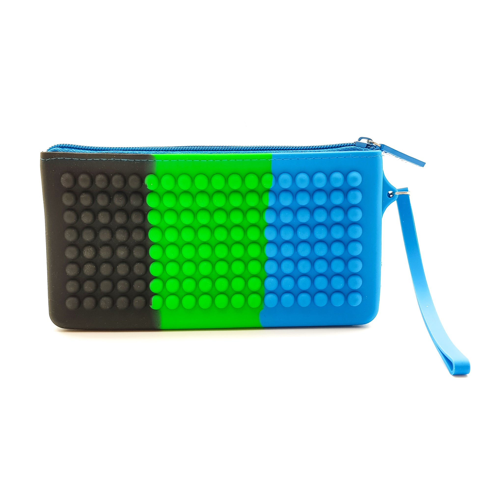 Silicon Scented Doted Pencil Pouch Blue