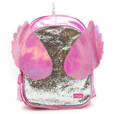 Unicorn Wing Glitter Backpack With Sequence Handle Pouch