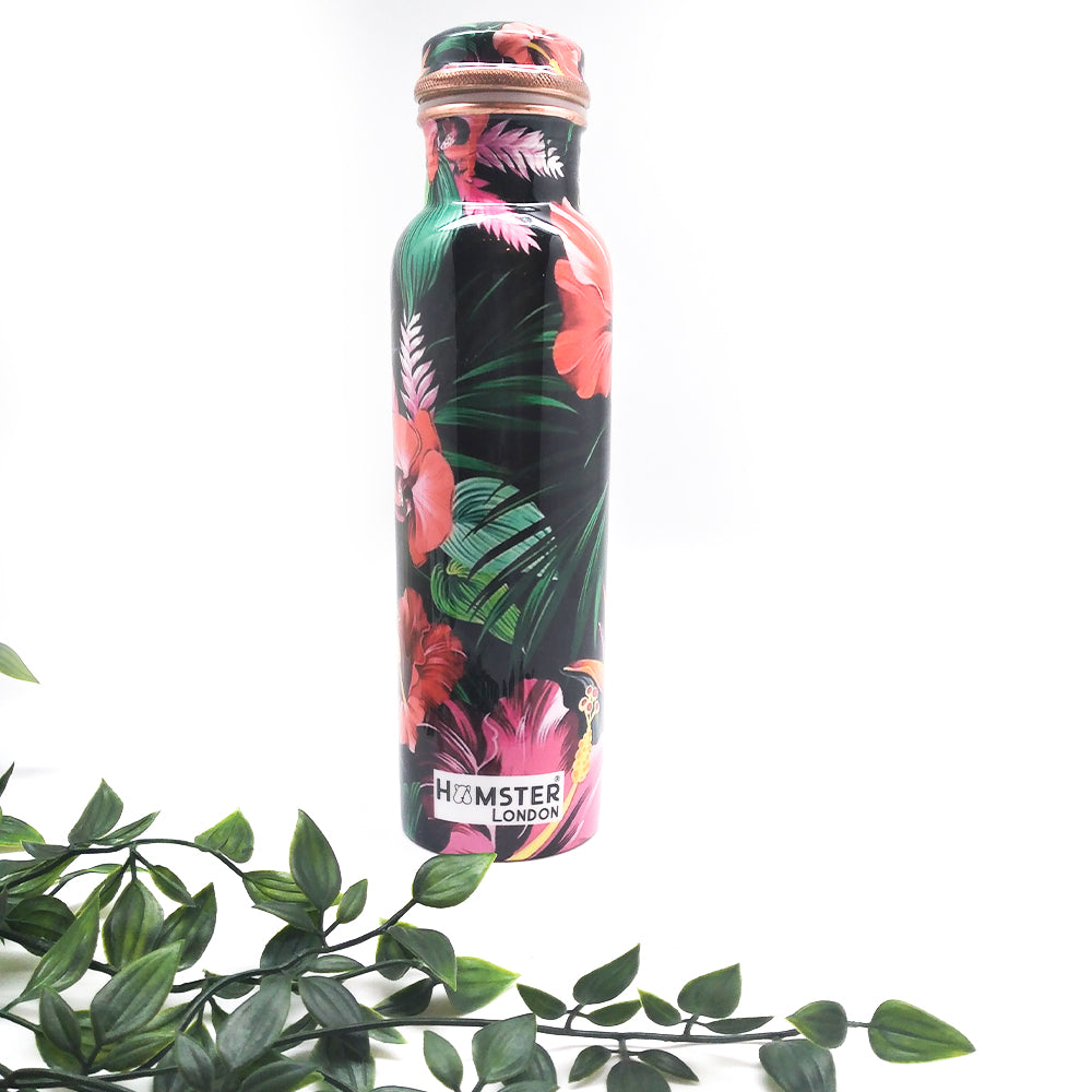 Printed Copper Bottle Tropical