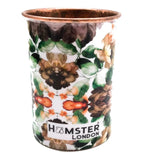 Pure Copper Glass Tumbler, Drinkware Floral