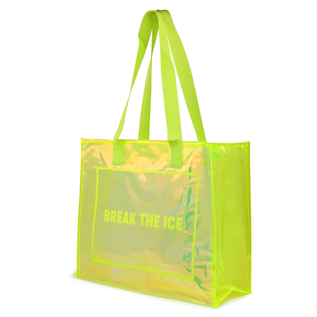 Tote Bag Green With Makeup Pouch Set Of 3 Tropical