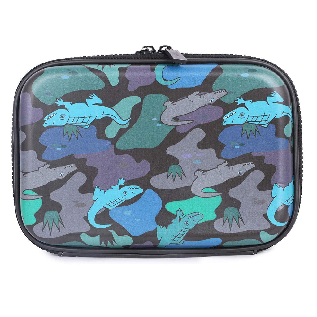 Hardtop Pencil Case Organizer Alligator Black