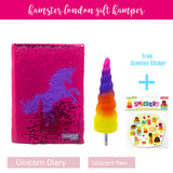 Gift Hamper Sequence Unicorn Pink Diary & Pen