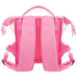 Shiny Stylish Girls Mini Handle Bag with Pouch Pink