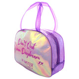 Duffle Bag Purple + Backpack + Boston Bag + Glitter Bottle + Pouch