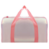 Shiny Duffle Bag Pink With Bottle
