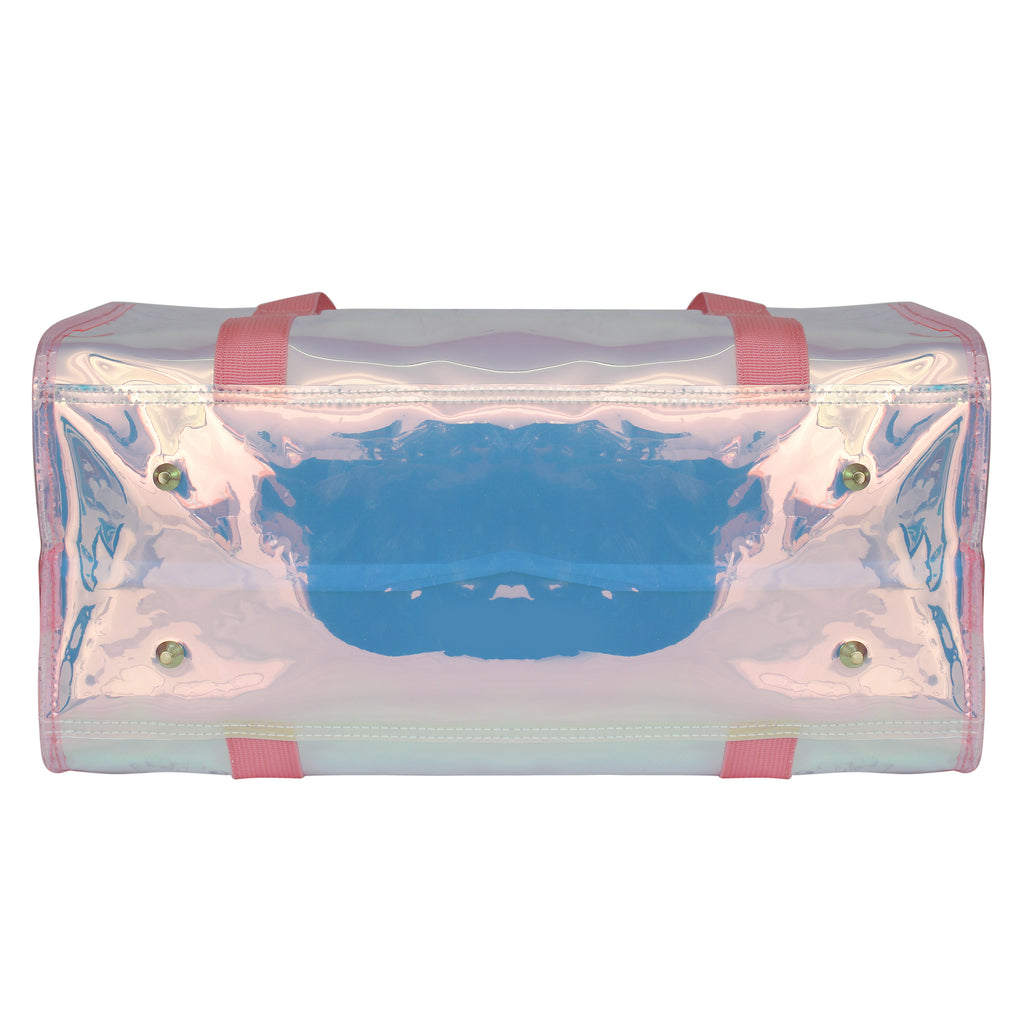 Shiny Duffle Bag Pink With Customization