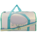 Shiny Duffle Bag Aqua