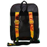 Girl's Fashion Shiny Backpack Black Big