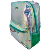 Girl's Fashion Shiny Backpack Aqua Big