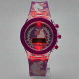 Silicon Light up Wrist Watch for Kids Girl's/Boy's Unicorn