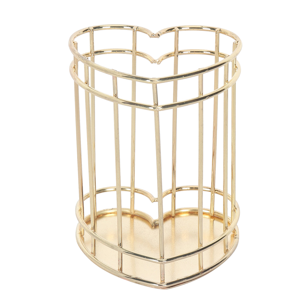 Gold Metal Stand Heart