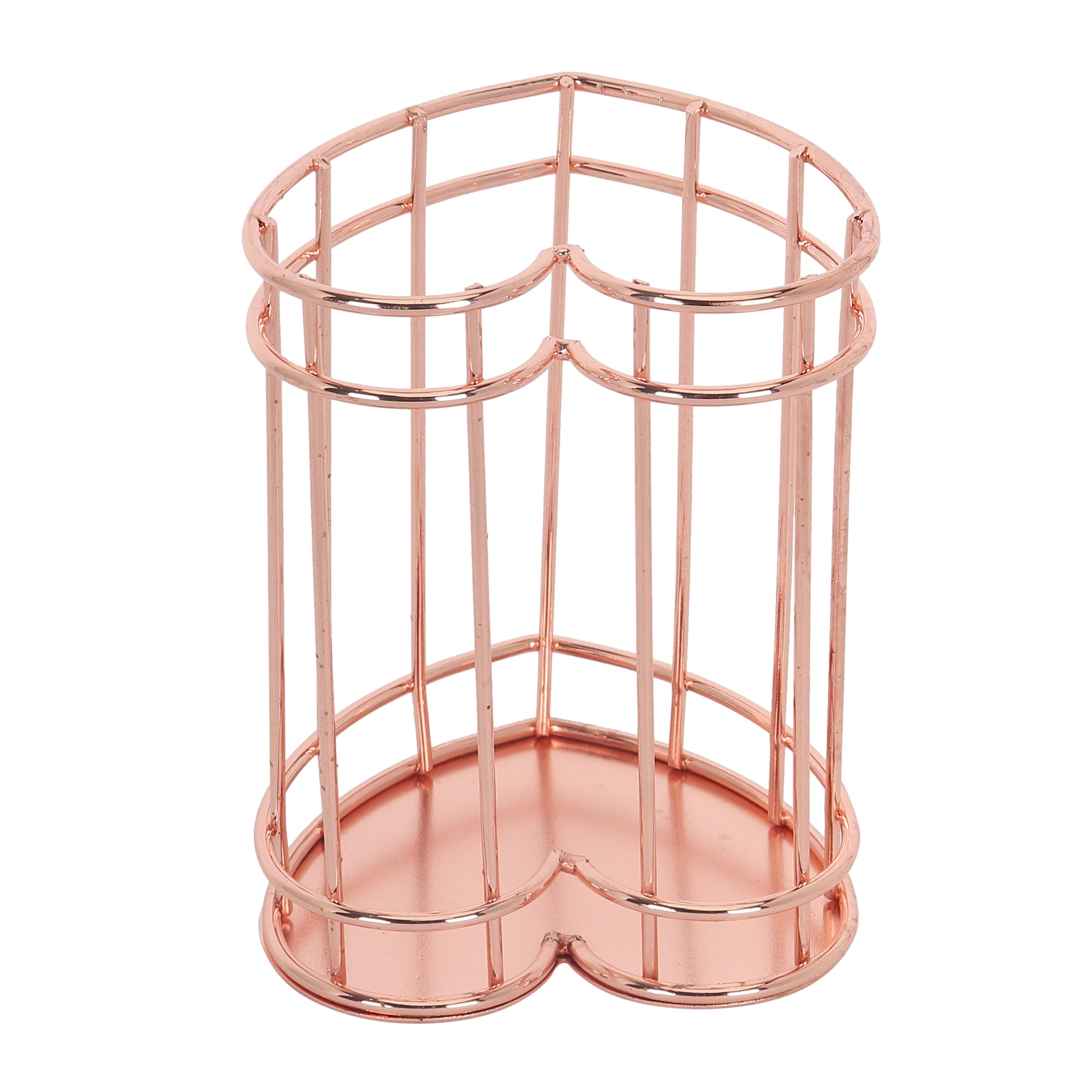 Rose Gol Metal Stand Heart