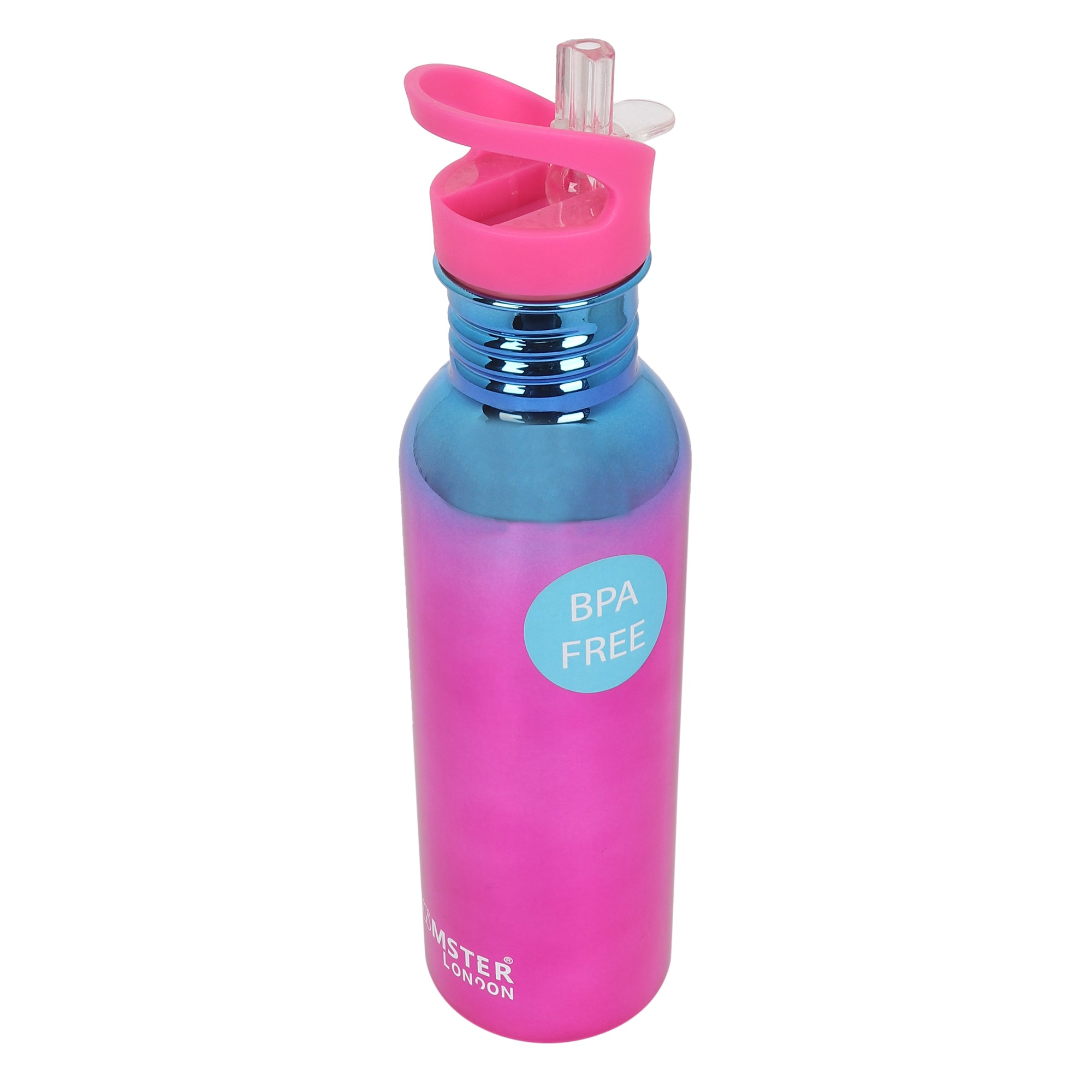 Holo Large Sipper Metal Bottle Pink