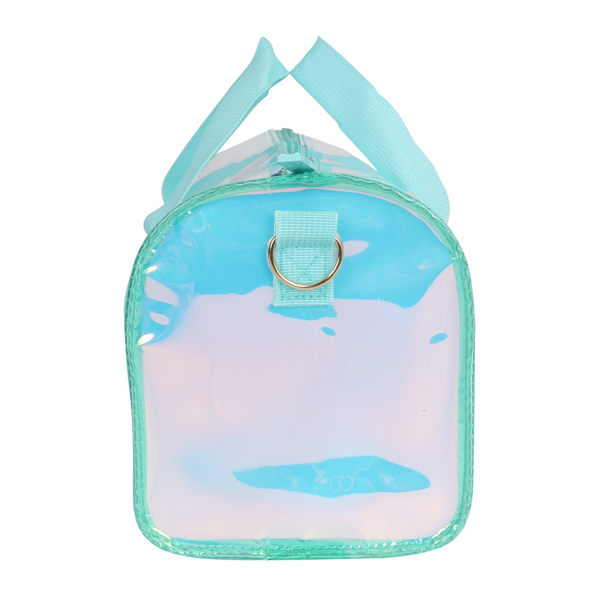 Shiny Duffle Bag Combo Aqua Set of 3