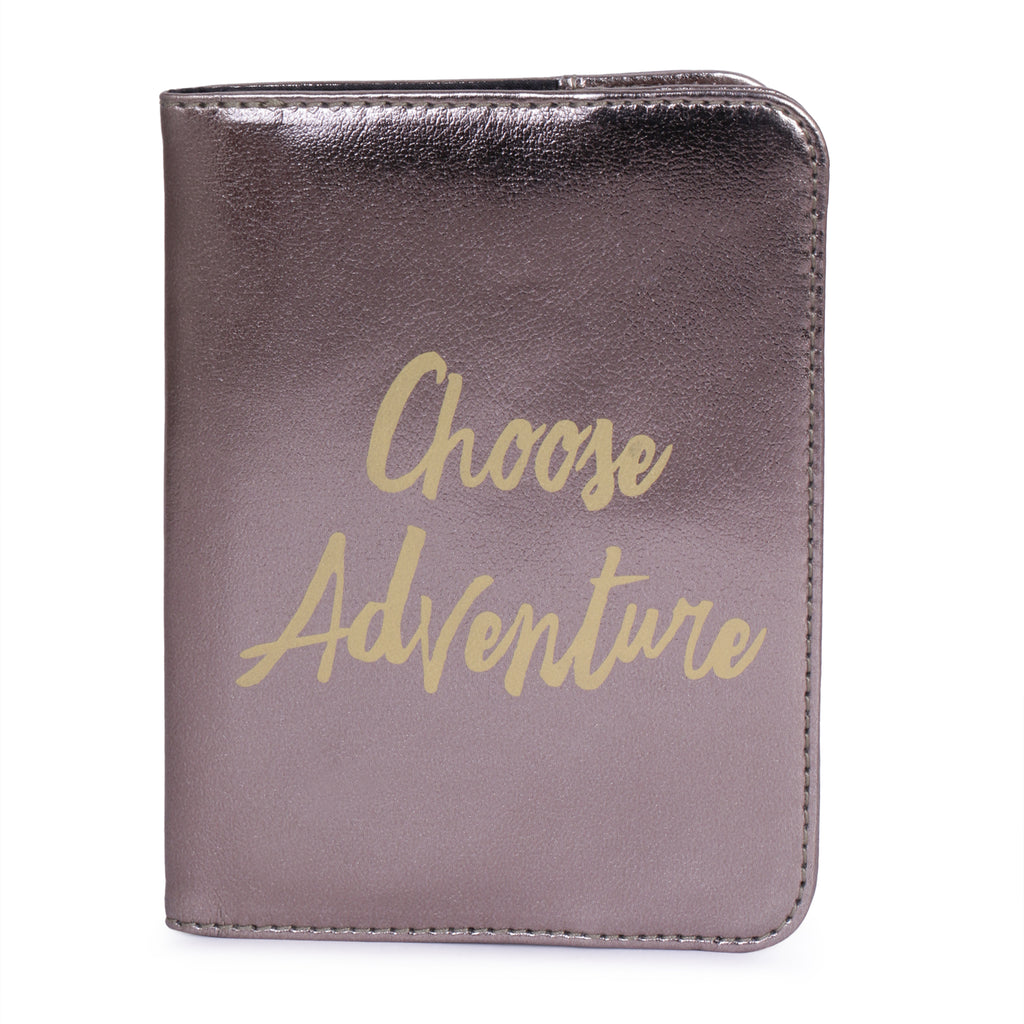 Passport Cover Choose Adventure Brown
