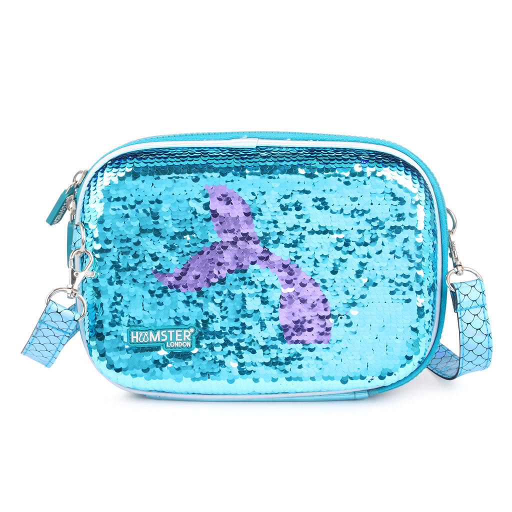 Sling bag, hardcase, hardtop, pencil case, pencil case, school accessories, mermaid, sequance pouch,