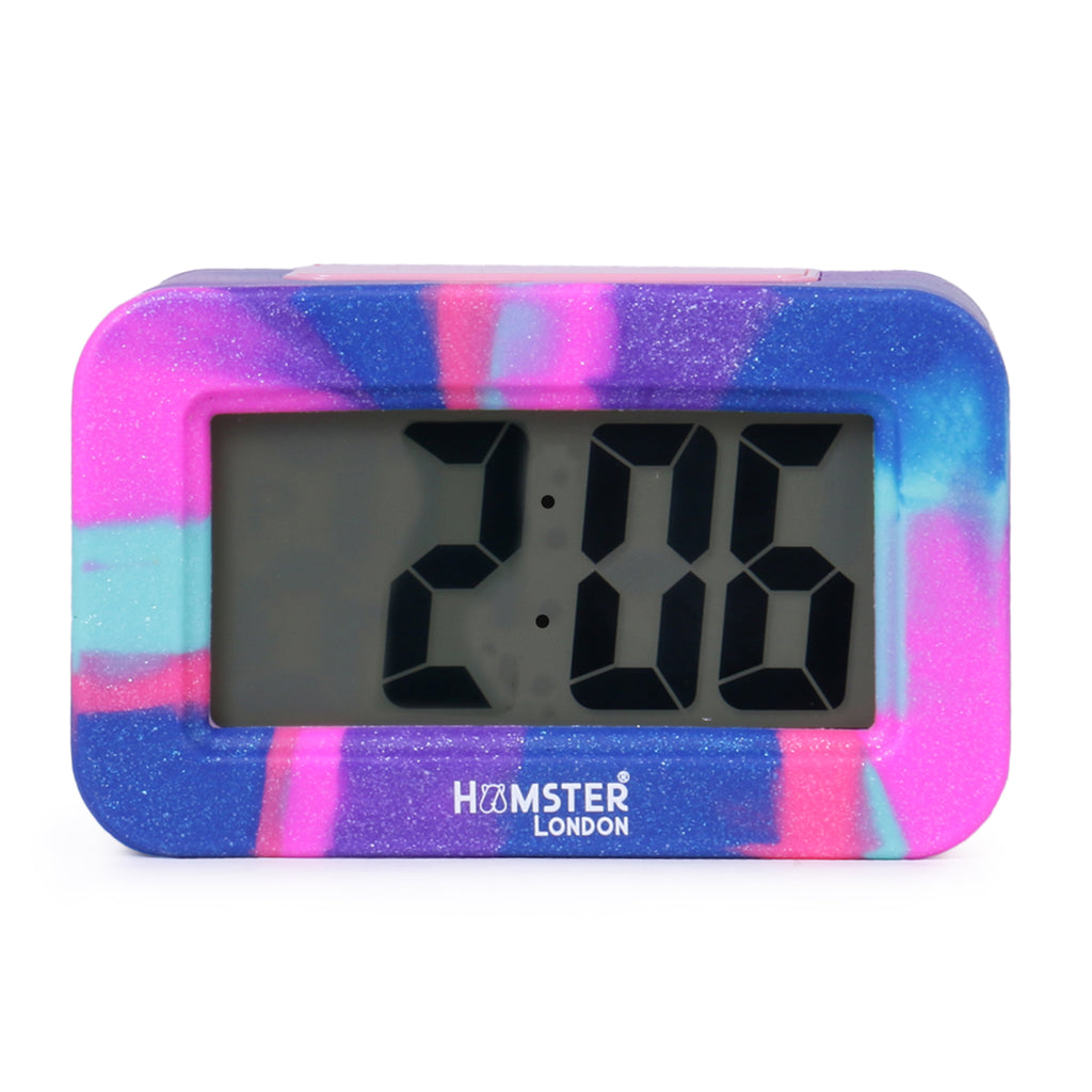 Digital Silicon Alarm Clock Pink