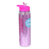 Glitter Sipper Water Bottle Light Pink