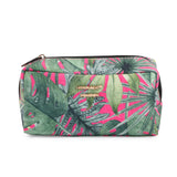 Boston Bag Black With Makeup Pouch Set Of 3 Tropical