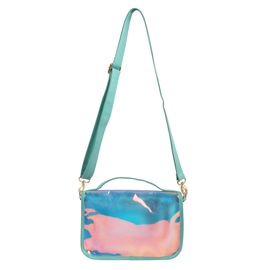 Shiny Sling Bag Aqua