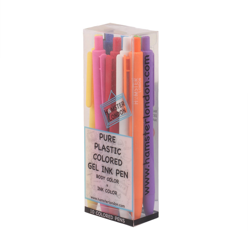 Pure Plastic Colored Gel Ink Pen