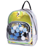 Pom Pom Small Backpack Blue