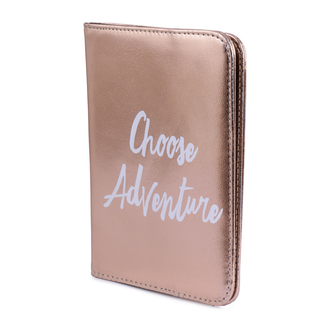 Passport Cover Choose Adventure Gold