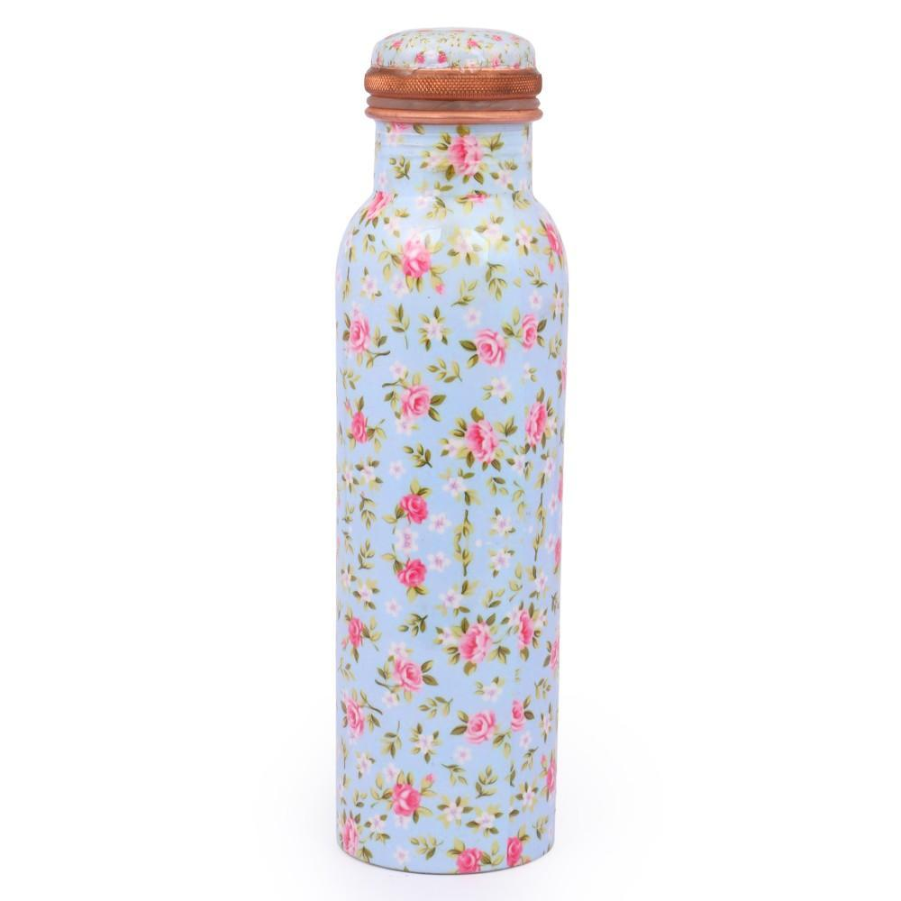 Printed Copper Bottle Small Floral