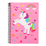 A5 Spiral Notebook Pink Unicorn