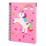 unicorn theme based A5 size spiral notebook.