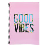 A5 Spiral Notepad Good Vibes