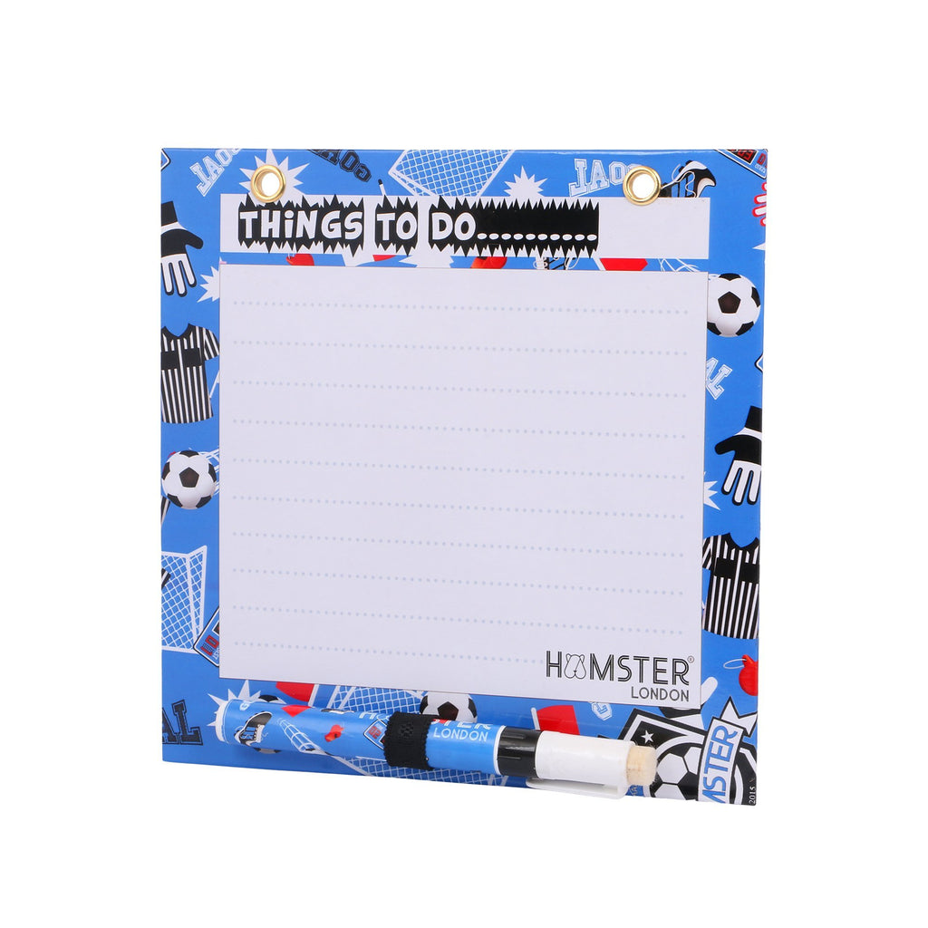 Square Magnetic White Board Football Blue