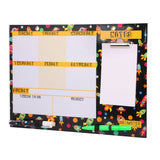 A3 Magnetic Erasable White Board Planner with Memo pad,  Black color