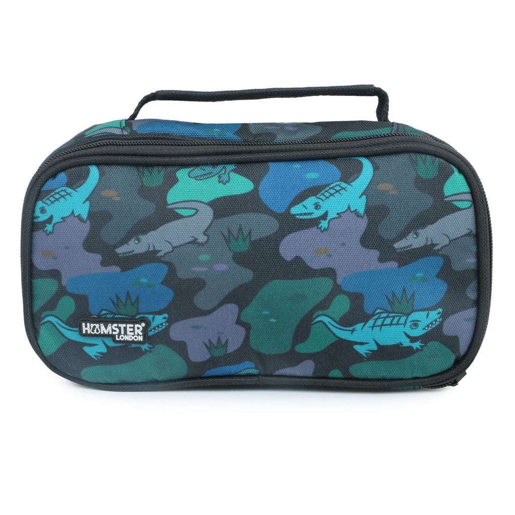 Duble Zipper Pencil Case Alligator