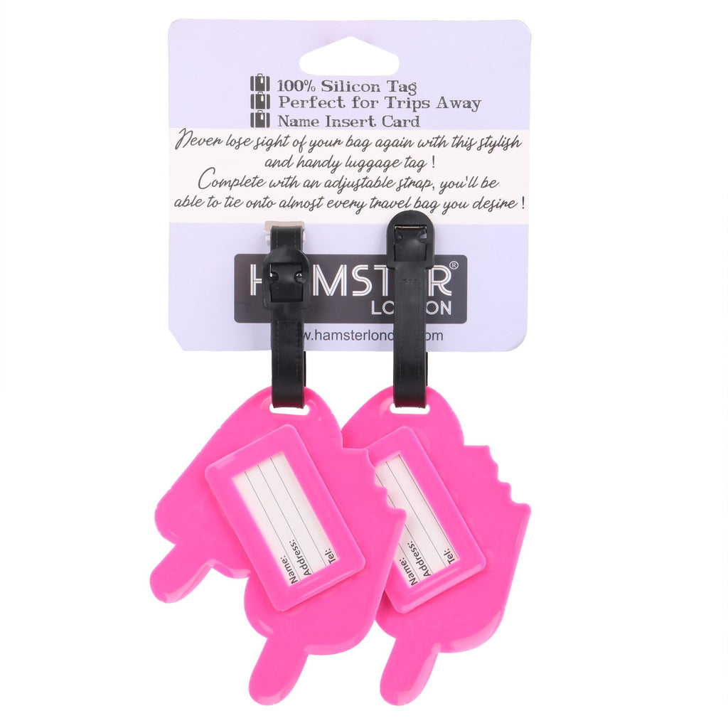 Luggage Tag Pink Lolli Set of 2