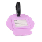 Luggage Tag Purple Shell Set of 2