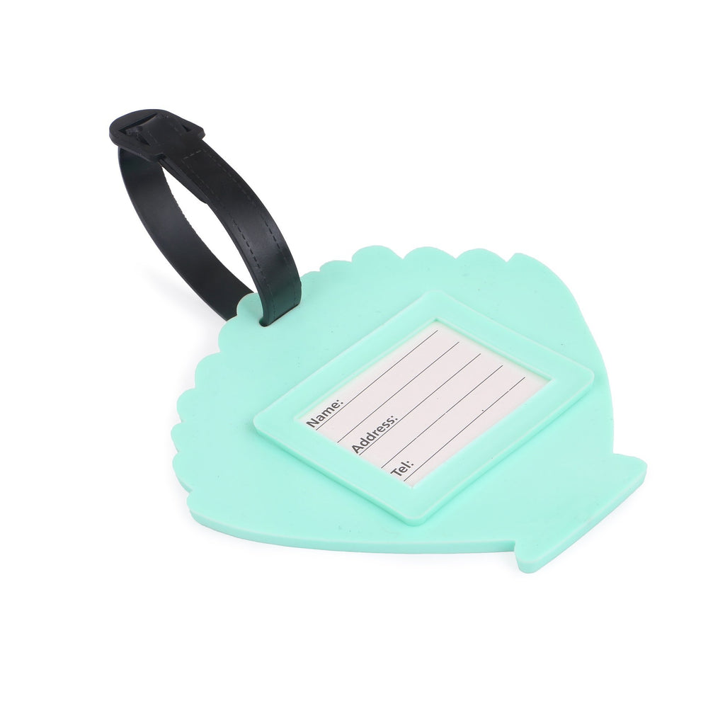 Luggage Tag Green Shell Set Of 2