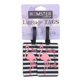 Luggage Tag Flamingo Set of 2