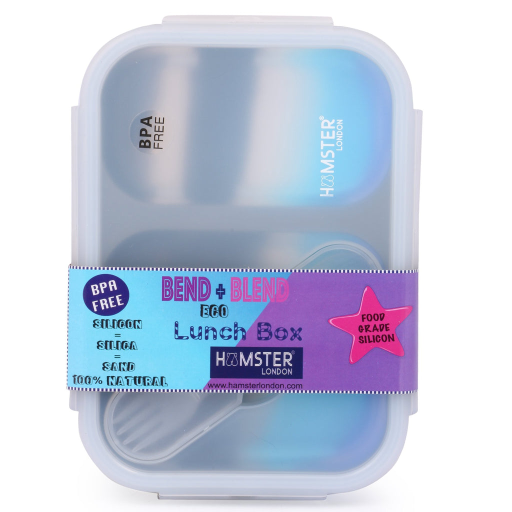 Silicon Bendable Tiffin Box Large Blue