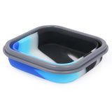 Silicon Bendable Tiffin Box Small Blue