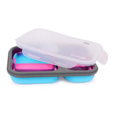 Silicon Bendable Tiffin Box Large Pink