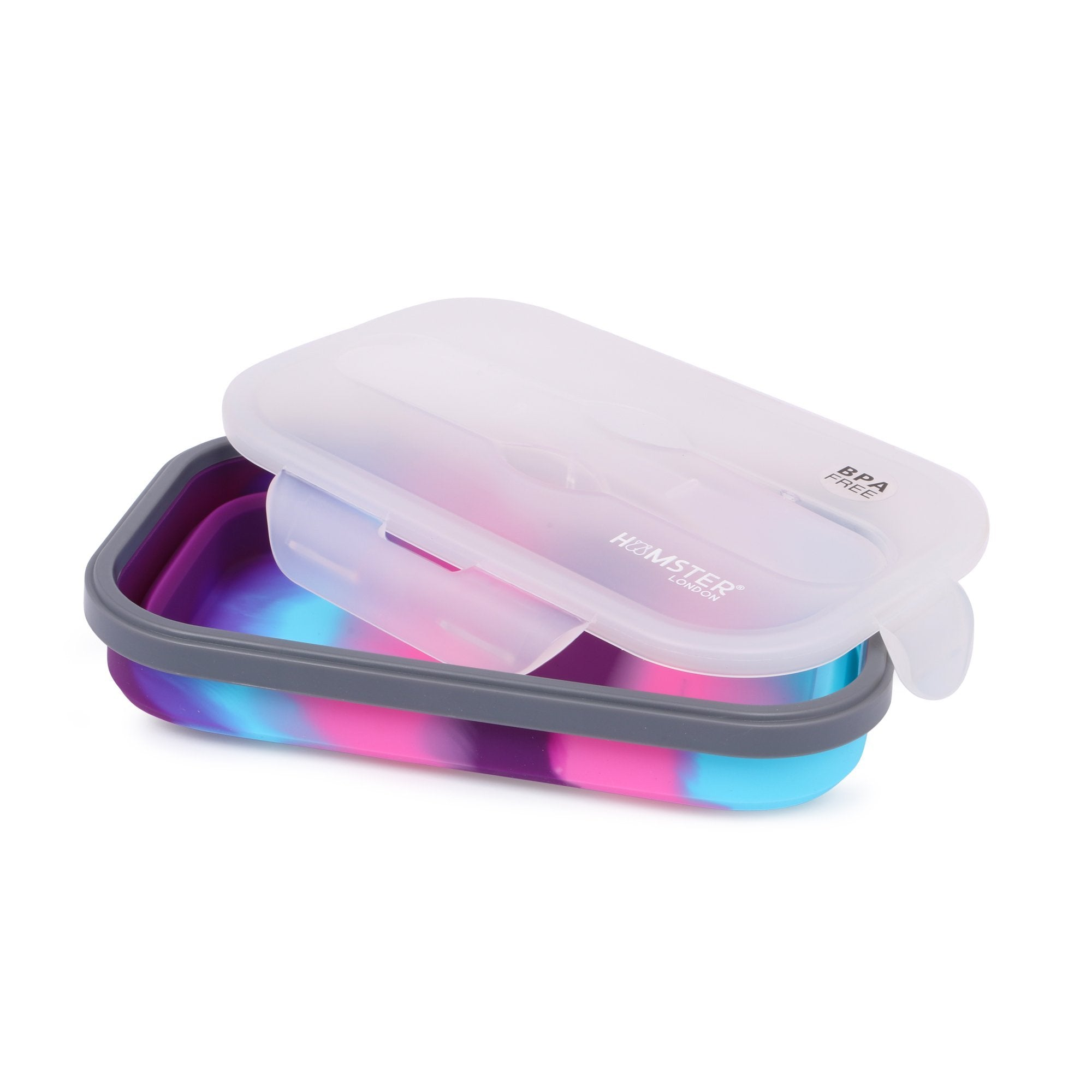 Silicon Bendable Tiffin Box Medium Pink