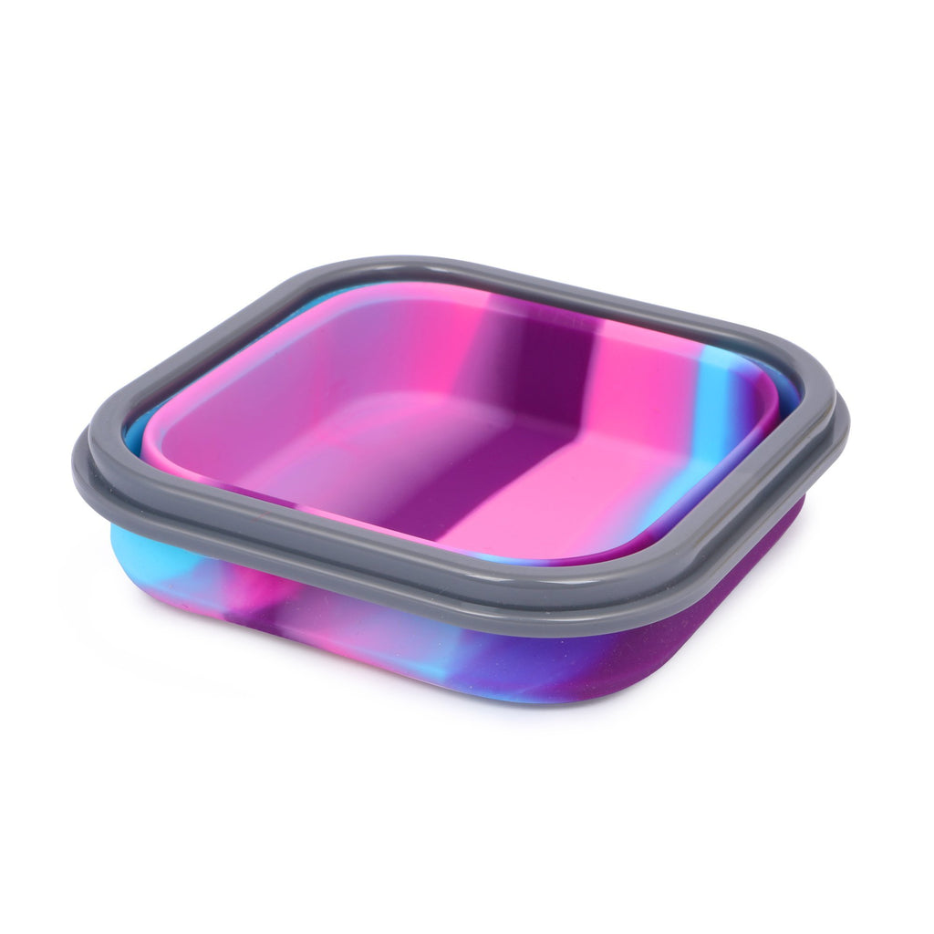 Silicon Bendable Tiffin Box Small Pink