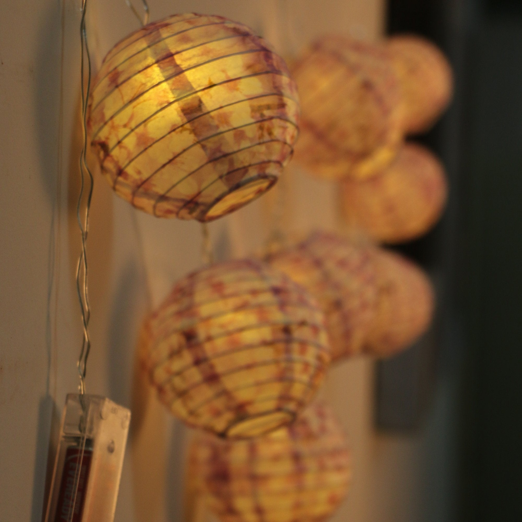 Lucky Paper Lamp Lights for Home Decor (Lavender)